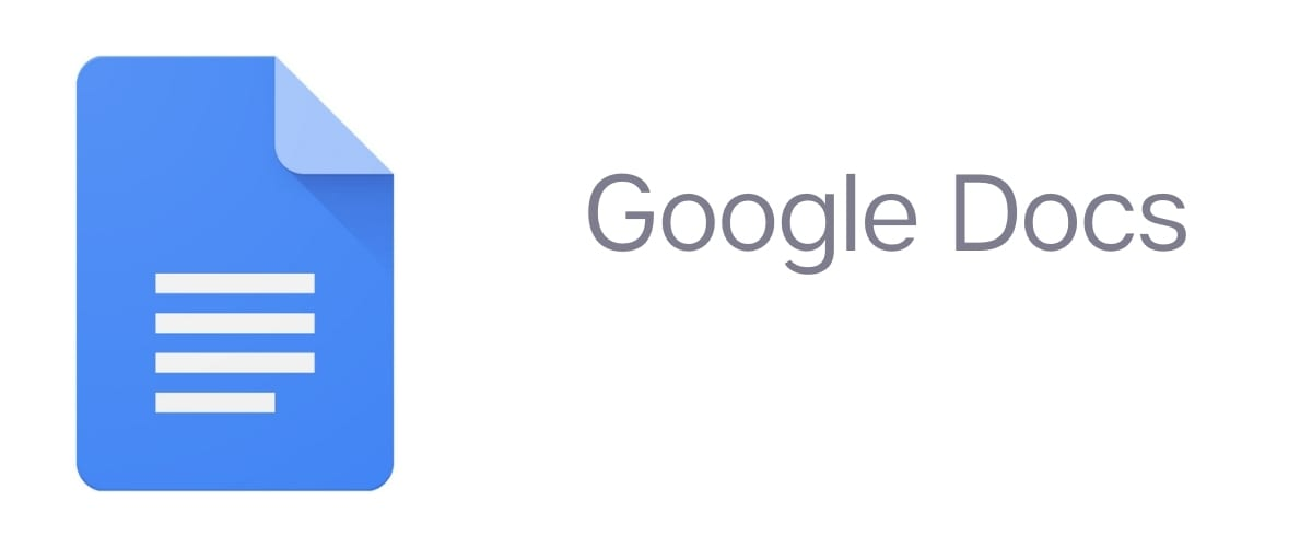 Google Docs logo to the left of the text Google Docs